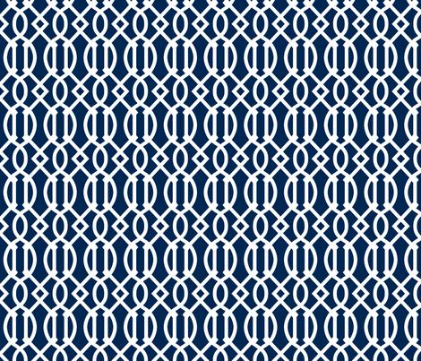 Navy Blue Trellis