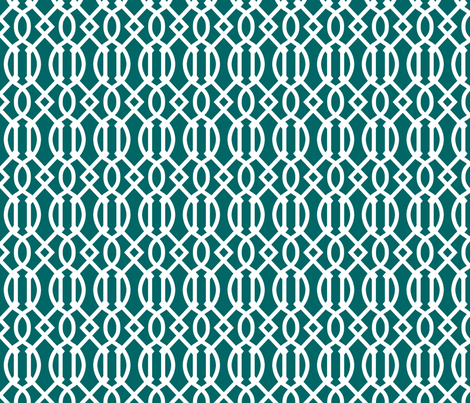 Dark Teal Trellis