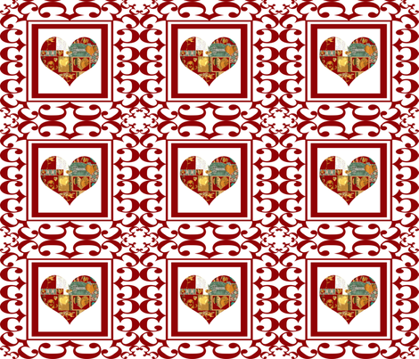 Written on the Heart (small repeat) fabric by anniedeb on Spoonflower - custom fabric