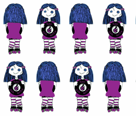 Large Purple Rocking Derby Doll