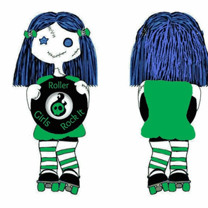 Large Green Rocking Derby Doll