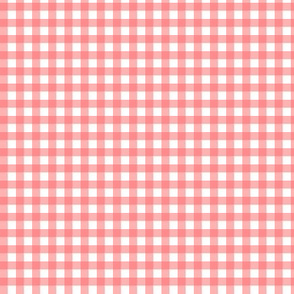 Coral Gingham