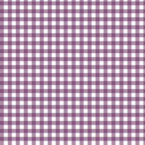 Plum Purple Gingham