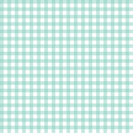 Aqua Gingham fabric by sweetzoeshop on Spoonflower - custom fabric