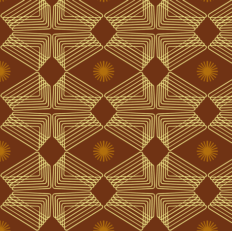 Caramel Ripples and Wheels fabric by telden on Spoonflower - custom fabric