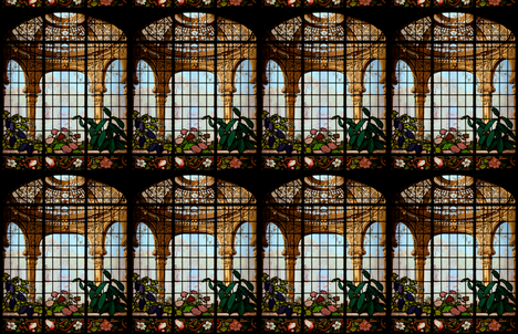 Henry G. Marquand House Conservatory Stained Glass Window ~ Medium fabric by peacoquettedesigns on Spoonflower - custom fabric