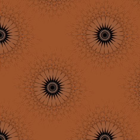 Eyespot - Mocha fabric by telden on Spoonflower - custom fabric