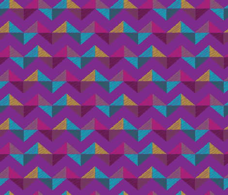 Geo Chevron_amethyst fabric by bee&lotus on Spoonflower - custom fabric