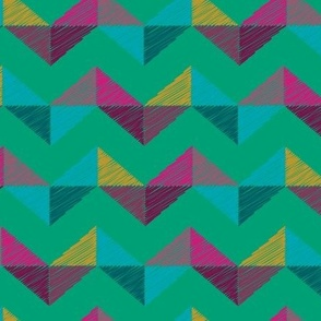 Geo Chevron_emerald