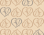 Sighthound hearts beige