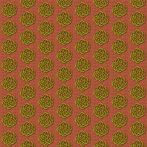 knots_-_watermelon fabric by glimmericks on Spoonflower - custom fabric