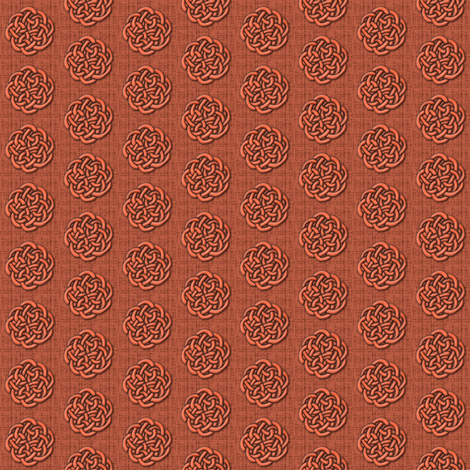 knots_-_coral fabric by glimmericks on Spoonflower - custom fabric