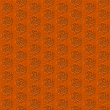 knots_-_orange fabric by glimmericks on Spoonflower - custom fabric