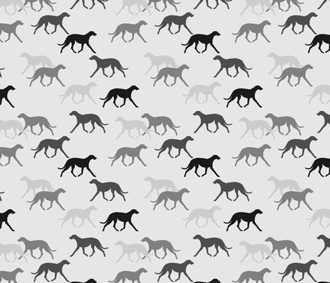 Deerhound black-grey fabric by lobitos on Spoonflower - custom fabric