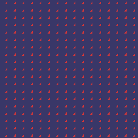 Tiny Triangles - Red on Royal Blue fabric by little_fish on Spoonflower - custom fabric