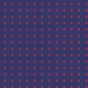 Tiny Triangles - Red on Royal Blue