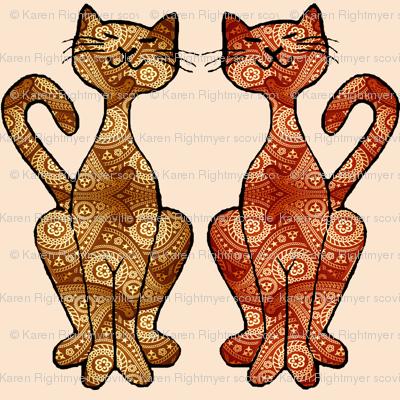 paisley kitties small