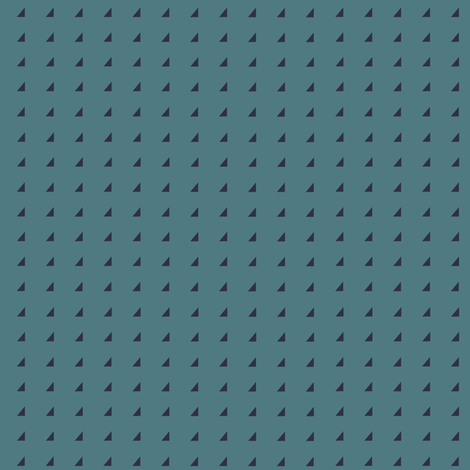 Tiny Triangles - Navy on Teal fabric by little_fish on Spoonflower - custom fabric