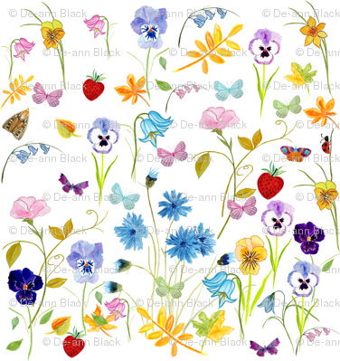 Flower Hunter Fabric
