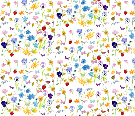 Flower Hunter Fabric fabric by de-ann_black on Spoonflower - custom fabric