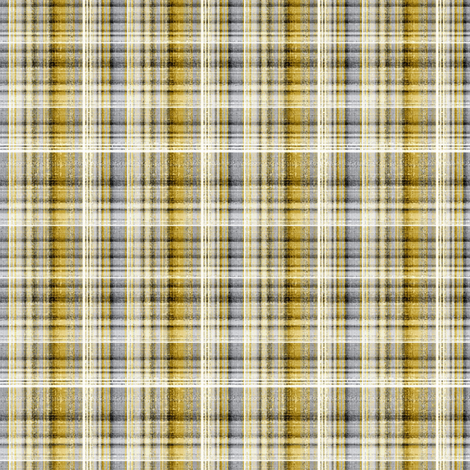 Plaid in gold and gray fabric by joanmclemore on Spoonflower - custom fabric