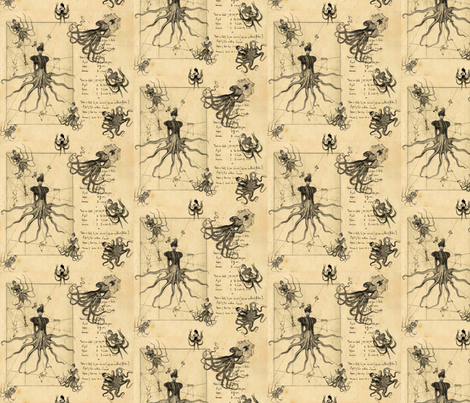 Verne's Ladies fabric by marchhare on Spoonflower - custom fabric