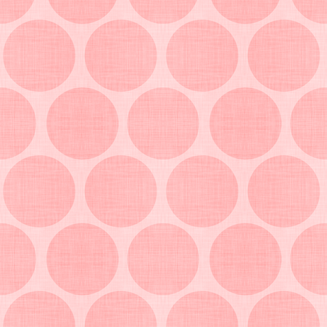 Pink Linen Dots fabric by sweetzoeshop on Spoonflower - custom fabric