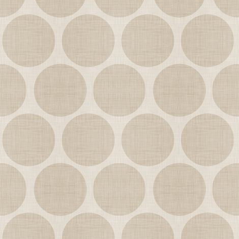 Beige Linen Dots fabric by sweetzoeshop on Spoonflower - custom fabric