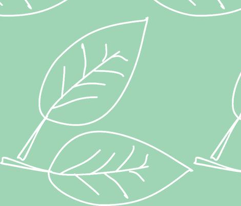 folhas azul lavanda fabric by ana_somaglia on Spoonflower - custom fabric