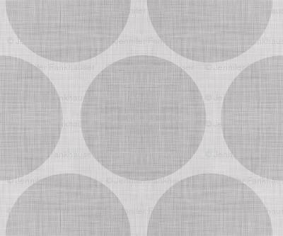Gray Linen Dots