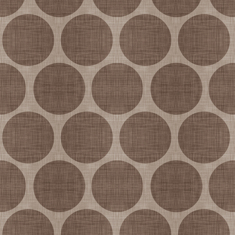 Mocha Linen Dots fabric by sweetzoeshop on Spoonflower - custom fabric