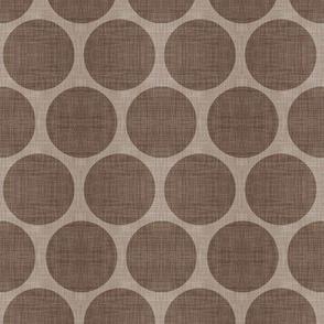 Mocha Linen Dots
