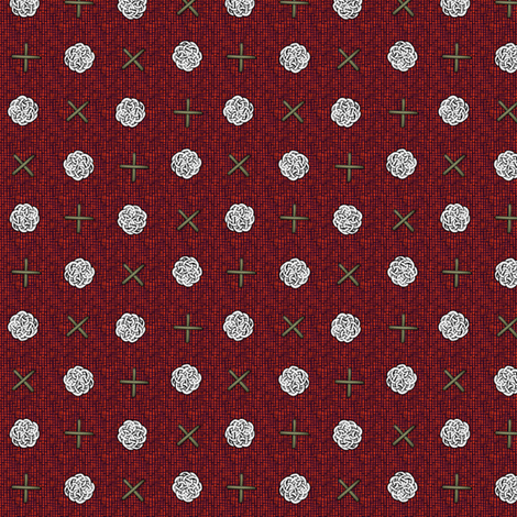 fairy_dots_on_red fabric by glimmericks on Spoonflower - custom fabric