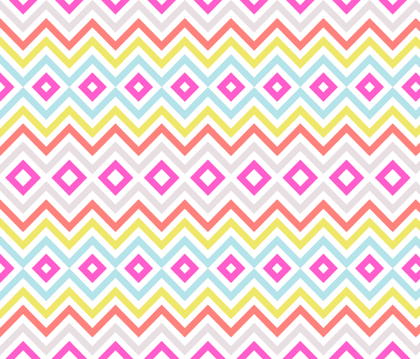 Multi Tribal Chevron fabric by sweetzoeshop on Spoonflower - custom fabric