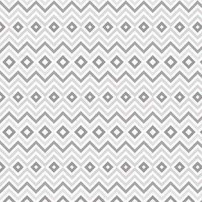 Gray Tribal Chevron