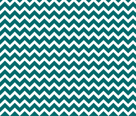 Dark Teal Chevron fabric by sweetzoeshop on Spoonflower - custom fabric