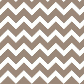 Mocha Brown Chevron