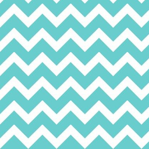 Turquoise Chevron