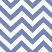 Denim and White Chevron