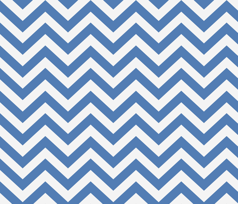 Gem Blue  Chevron  fabric by willowlanetextiles on Spoonflower - custom fabric