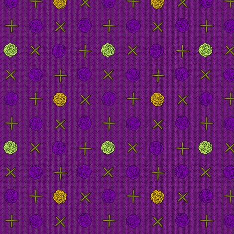 fairy_dots_mardi_gras fabric by glimmericks on Spoonflower - custom fabric