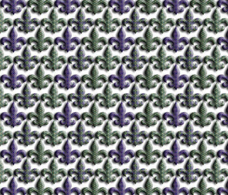 Floating Fleur De Lis fabric by stitchinspiration on Spoonflower - custom fabric