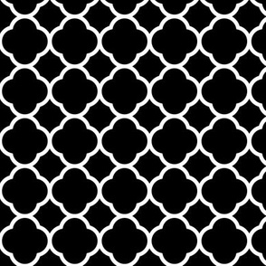 Black and White Quatrefoil