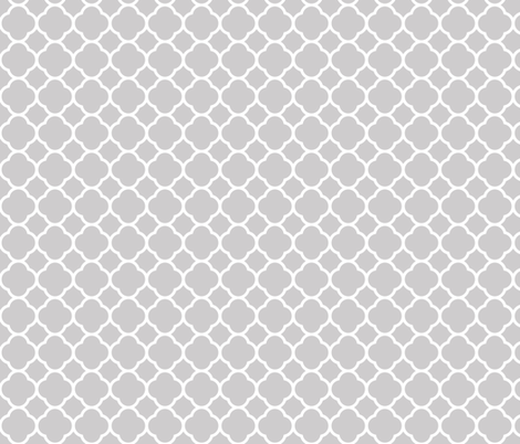 Light Gray Quatrefoil