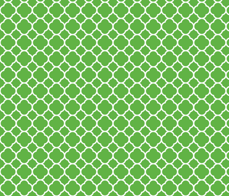 Kelly Green Quatrefoil