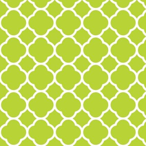 Apple Green Quatrefoil