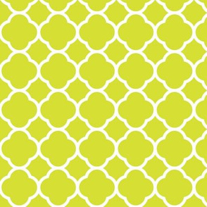 Lime Green Quatrefoil