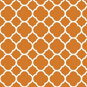 Burnt Orange Quatrefoil