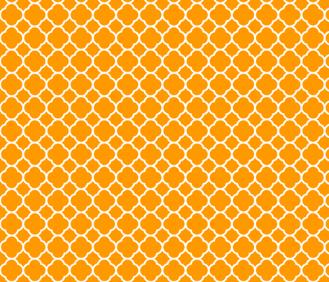 Orange Quatrefoil