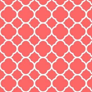 Coral Quatrefoil